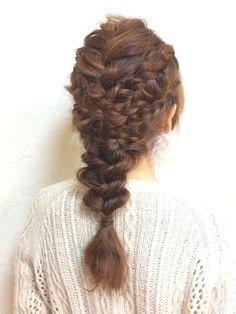http://beauty.rakuten.co.jp/hs0267312/ 【 ミックス編み込み☆ダーウンヘア】アップスタイルもダウンスタイルも両方したい方へ♪結婚式のお呼ばれやパーティーなど、あなたの特別な日に…☆