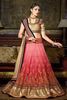 Plush #Pink Color #Lehenga Choli Set @ http://www.indiandesignershop.com/product/plush-pink-color-lehenga-choli-set-2/