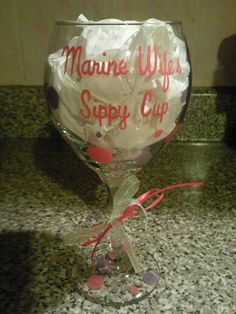 hand painted wine glass - sippy cup