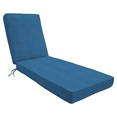"Eddie Bauer Home Chaise Double Piped 26"" W x 82"" L x 2.5"" H, Canvas Regatta"