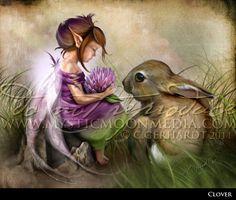 "Clover"" from my Children of Myth Collection #Fairy #FantasyArt www.mysticmoonmedia.com"