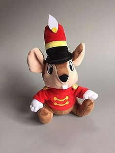 TIMOTHY Q. MOUSE Dumbo Mouse in Red Jacket and Hat DISNEY PARKS AUTHENTIC TOY
