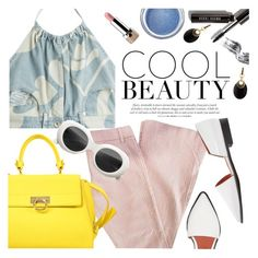 """""""Cool Beauty"""" by ivansyd ❤ liked on Polyvore featuring Marc Jacobs, Acne Studios, Salvatore Ferragamo, Moschino, Alexis Bittar, Bobbi Brown Cosmetics and Elizabeth Arden"""