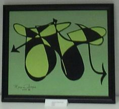 16x20 Abstract Motorcycle                   $99.95