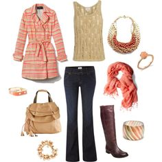 """""""Pink & Gold Autumn"""" by Amanda Morris on Polyvore"""