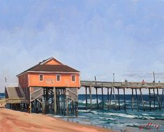 Rodanthe Pier Sketches, Painting, Art, Drawings, Art Background, Painting Art, Kunst, Paintings