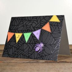 Sparkly Spider Boo Card