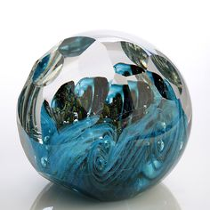Oceans Reef by Benjamin Silver - (Art Glass Paperweight) Crushed Glass, Marble Art, Glass Paperweights, Stained Glass Art, Glass Ball, Paper Weights, Sculpture Art, Wind Chimes, Natural