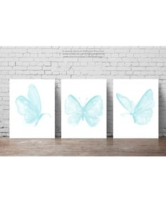 Baby Blue Butterfly ensemble 3 papillons par ColorWatercolor