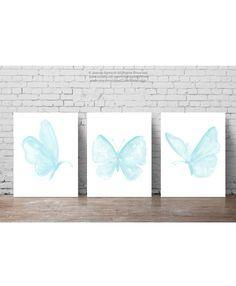 Baby Blue Butterfly ensemble 3 papillons par ColorWatercolor