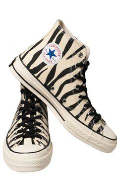 Converse Natural / Black / Zebra Print Sneaker