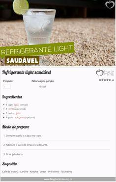 Refrigerante light saudável - Blog da Mimis - Emagreça com refrigerante zero calorias! Receita simples e deliciosa! #refrigerante #zerocalorias #calorias #emagrecer #refri #light