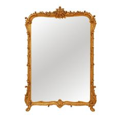 41x56 $2600+ 1940's Gilt French Mirror | From a unique collection of antique and modern wall mirrors at http://www.1stdibs.com/furniture/mirrors/wall-mirrors/