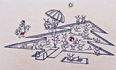 #retrochristmas, #midcenturymodern, #santa, Vintage Christmas Card, Retro Christmas Card, #holidaypoolparty