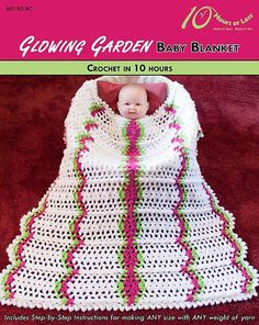 Looking for your next project? You're going to love GLOWING GARDEN Baby Blanket by designer 10HoursorLess.