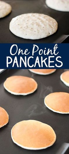 Yummy 1 One Point Pancakes -- Weight Watchers Recipe.