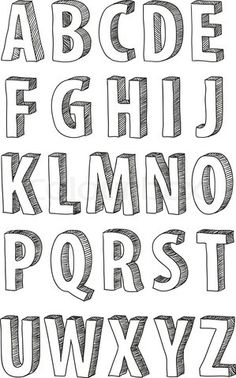 Vector of 'font, doodle, alphabet' #typography