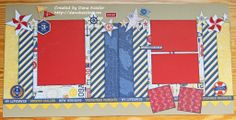 Two Page Nautical Scrapbooking Layout using CTMH Tommy WOTG and Cricut Artbooking #ctmh #scrapbooking