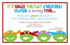 A Turtley Awesome 4 year-old Ninja Turtle Birthday, Ninja Turtle Party, Ninja Turtles, 4th Birthday Parties, Birthday Fun, Birthday Ideas, Ninja Party, Party Entertainment, Party Planning