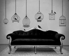 DIY Decorative Bird Cage | interior wall decorating with bird decorations or images of birds is ...