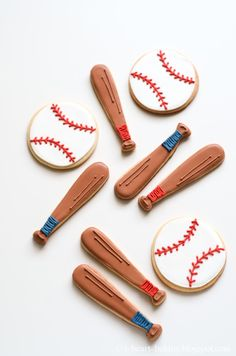 baseball cookies for a little slugger baby shower
