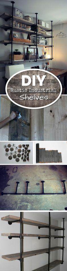 DIY Industrial Rustic Shelves