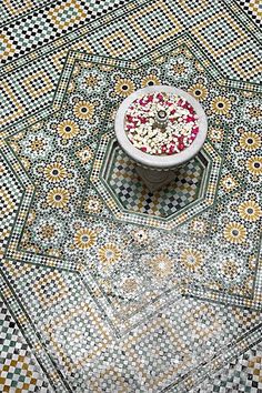 moroccan tile  ..... this is actually from a house, can you even imagine how beautiful?!?