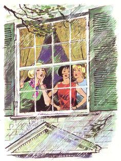 Nancy Drew Illustration by Albert Chazelle. So pretty! Nancy Drew Mystery Stories, Nancy Drew Mysteries, Mystery Books, Vintage Books, Vintage Art, Detective, Nancy Drew Books, Josie And The Pussycats, Girls Series