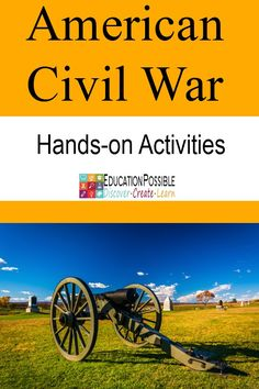 We have found many projects and activities to help our middle school kids to learn more about the American Civil War. We love books, music, art, and of course history hands-on activities. Project ideas for tweens/teens. Civil War Activities, History Activities, Hands On Activities, Learning Activities, Teaching Themes, Camping Activities, Teaching Resources, History Classroom, History Education