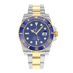Rolex Submariner Stainless Steel Yellow Gold Watch Blue Ceramic 116613 Box/Papers 2016 Check https://www.carrywatches.com