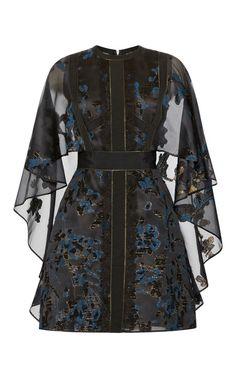 Radiance fil coupe capeline dress by ELIE SAAB Preorder Now on Moda Operandi Sheer Sleeve Dress, Sheer Dress, Dress Up, Sleeve Dresses, Runway Fashion, High Fashion, Fashion Outfits, Fashion Women, Women's Fashion