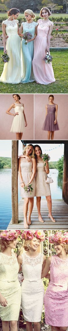 #Tendencias en vestidos de dama de honor para esta temporada. #Bridesmaids #Ideas #Wedding