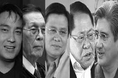 These are the five senator who  were accused in reports that they used their Priority Development Assistance Fund (PDAF) or pork barrel to fund ghost projects solicited by a dummy non-government organizations through forgery, falsification and bribery.  Ramon Revilla, Jr. - P 1.017 billion Juan Ponce Enrile - P 641.65 million Jinggoy Estrada - P 585 million Ferdinand Marcos Jr. - P 100 million Gregorio Honasan - P 15 million