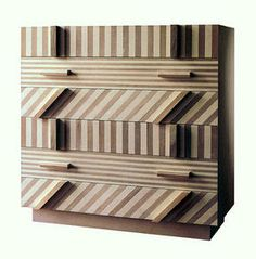Ettore Sottsass striped drawer unit