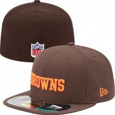 1b10ef08281f1 Cleveland Browns Official NFL On Field 59Fifty New Era Hat (Brown) Cleveland  Browns Hat