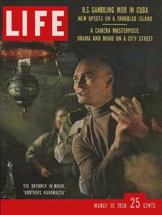 "Yul Brenner ~ Life Magazine ~ March 10, 1958 issue ~ Click image to purchase. Enter ""pinterest"" at checkout for a 12% discount."