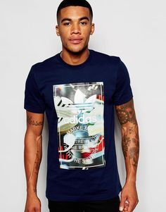 766aa1472d Shop adidas Originals T-Shirt With Chaos Print at ASOS.