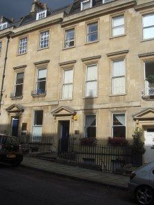 25 Gay Street, where Jane Austen lived with her family. Image @Tony Grant