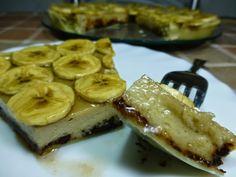 Tarta de plátanos, un postre delicioso que además se hace muy fácilmente. No te pierdas esta receta  ;)