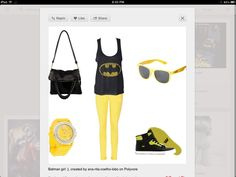 Perfect outfit for a chick batman fan