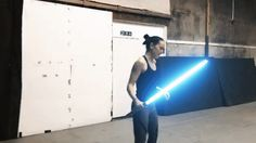 Image result for daisy ridley lightsaber gif