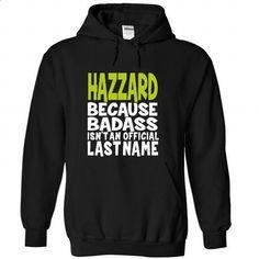 (BadAss) HAZZARD - #geek tshirt #harry potter sweatshirt. CHECK PRICE => https://www.sunfrog.com/Names/BadAss-HAZZARD-qzdkuiiphf-Black-44780872-Hoodie.html?68278