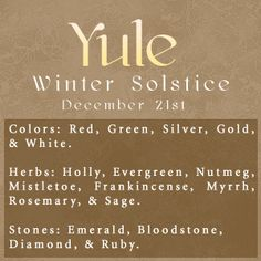 Winter Solstice: #Yule.