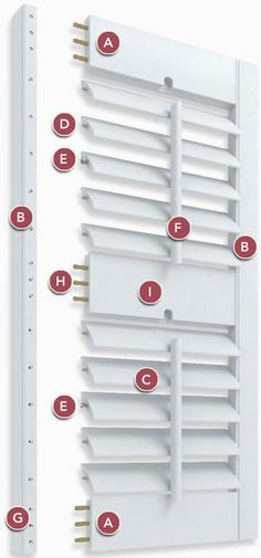 Parts of Plantation Shutter - see Divider Rail