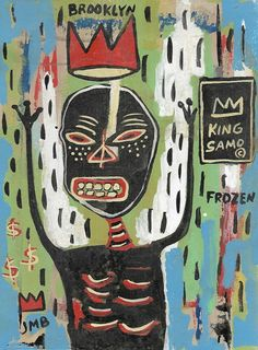 Oct 2019 - Jean-Michel Basquiat Painting on Tick Paper Rare Original Samo \ Jean Basquiat, Jean Michel Basquiat Art, Basquiat Paintings, Caribbean Art, Arte Pop, Naive Art, Les Oeuvres, Art Inspo, Outsider Art