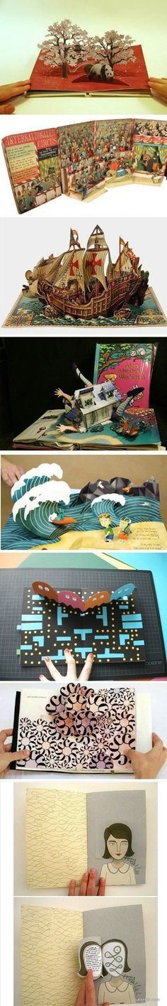 Pop-out books.