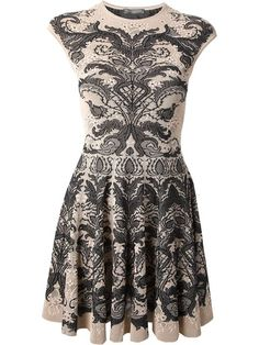 Shop Alexander McQueen baroque lace jacquard dress in Jean Pierre Bua from the world's best independent boutiques at farfetch.com. Over 1000 designers from 300 boutiques in one website.
