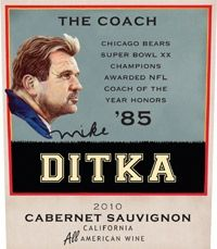 Former Bears coach Mike Ditka has relaunched hisMike Ditka Wines, which now include eight wines that reflect an aspect of his career: http://grapefriend.com/2012/09/06/even-more-gridiron-grapefriends/#