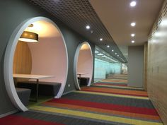 Synechron Technologies pvt ltd - in Pune, India #commercialinteriors #playwithcolour