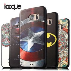 ICoque 3D Relief Silicone Case For Samsung Galaxy S6 S7 Edge S6edge+ Cover Coque Samsung Galaxy J5 J7 A5 A7 2016 A8 A9 Note 5 4